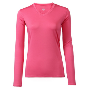 Women`s Long Sleeve Tennis Tee Pink
