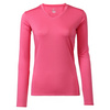 CRUISE CONTROL Women`s Long Sleeve Tennis Tee Pink