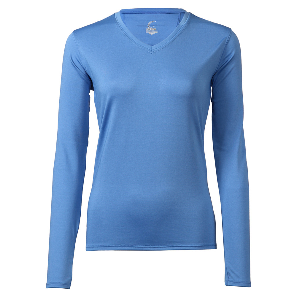 Women's Long Sleeve Tennis Tee Pacific Blue