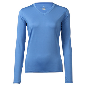 Women`s Long Sleeve Tennis Tee Pacific Blue