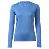 CRUISE CONTROL Women`s Long Sleeve Tennis Tee Pacific Blue