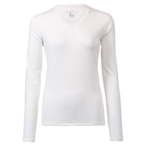 Women`s Long Sleeve Tennis Tee White