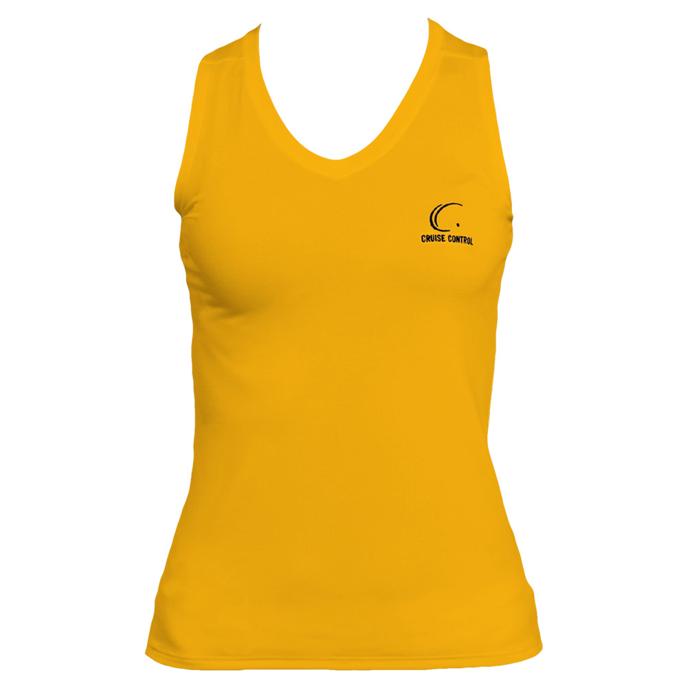 Women's Yellow Gold Sleeveless Tennis Tee