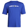 CRUISE CONTROL Men`s Tennis Tee Royal Blue