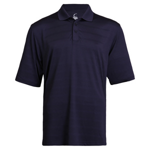 Men`s Navy Striped Tennis Polo
