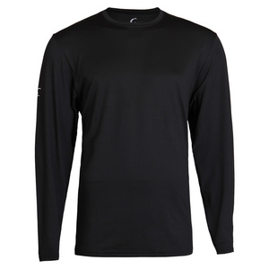 Men`s Long Sleeve Tennis Tee Black