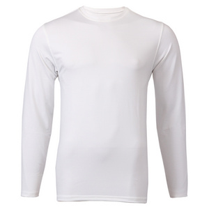 Men`s Long Sleeve Tennis Tee White