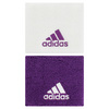 ADIDAS Small Tennis Wristband White and Tribe Purple
