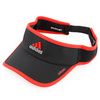 Adizero II Tennis Visor Black and Hi Res Red by ADIDAS