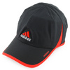 Adizero II Tennis Cap Black and Hi Res Red by ADIDAS