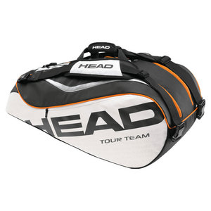 HEAD TOUR TEAM COMBI TENNIS BAG BLACK/WHITE