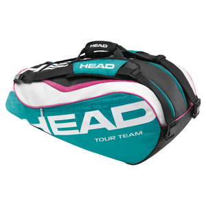 HEAD TOUR TEAM COMBI TENNIS BAG TEAL/WHITE