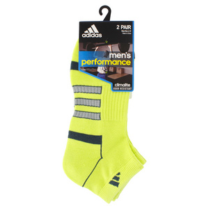 adidas MENS CLIMALITE II LOW CUT 2P SOCKS SLIME