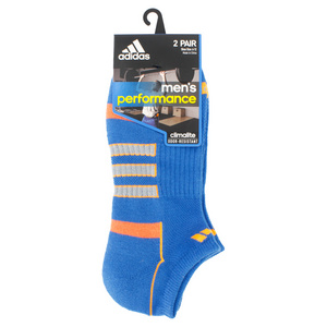 adidas MENS CLIMALITE II NS 2PK SOCKS BLUE