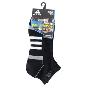 adidas MENS CLIMALITE II LOW CUT 2PK SOCKS BLK