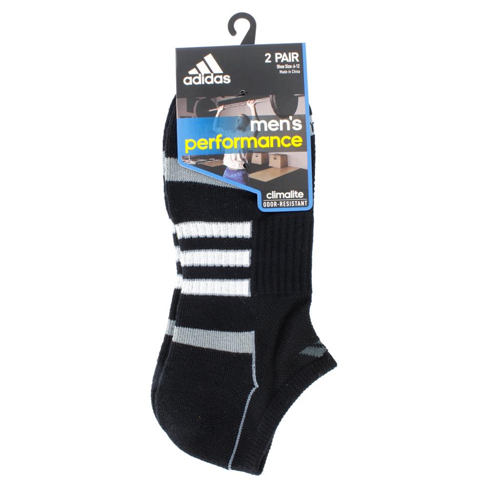 adidas mens climalite ii ns 2pk socks black