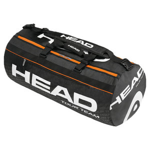 HEAD TOUR TEAM DUFFLE TENNIS BAG BLACK/ORANGE