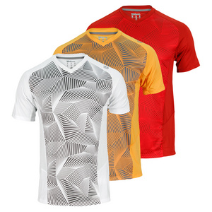 WILSON MENS SOLANA GEOMETRIC TENNIS V NECK