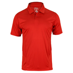 WILSON MENS SOLANA EMBOSSED TNNS POLO TERRA RED