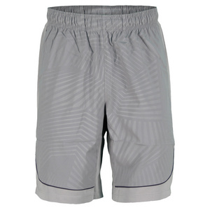 WILSON MENS SOLANA EMBOSSED TENNS SHORT COOL GY