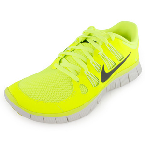 NIKE MENS FREE 5.0+ RUNNING SHOES VOLT
