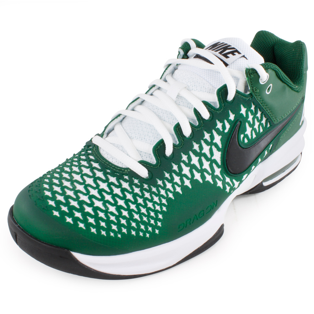 Men`s Air Max Cage Tennis Shoes Gorge Green The Nike Mens Air Max Cage Tennis Shoes Gorge Green are the best in control tennis shoes These sturdy sneakers have great breathability and a serious cushioning system that will provide you with many matches of comfort and stability Additionally Nike offe
