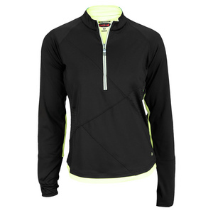 BOLLE WOMENS MOJITO LONG SLEEVE TOP BLACK/LIME