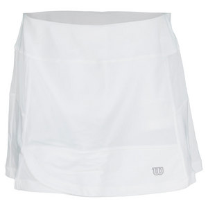 WILSON WOMENS RUSH FLARE 13.5IN TENNIS SKIRT WH