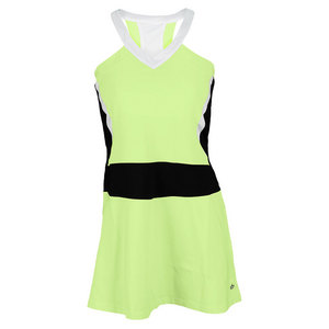 BOLLE WOMENS MOJITO TENNIS DRESS LIME/BLACK