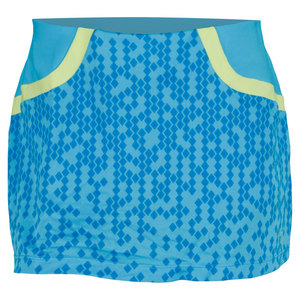 WILSON WOMENS SOLANA PIXEL 12.5 IN TENNIS SKIRT