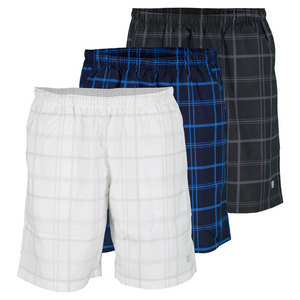 WILSON BOYS RUSH PLAID 8 INCH TENNIS SHORT