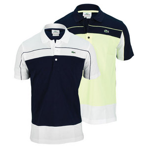 LACOSTE MENS SUPER LIGHT COLOR BLOCK TENNIS POLO