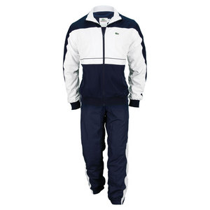 LACOSTE MENS COLOR BLOCK TRACKSUIT NAVY/WHITE