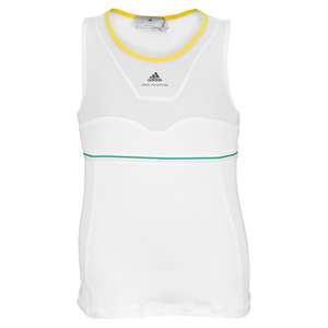 adidas GIRLS STELLA BARRICADE TANK WH/TRIBE GN