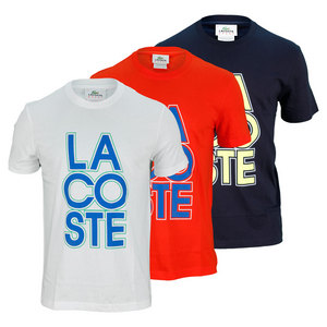 LACOSTE MENS SHORT SLEEVE GRAPHIC TENNIS TEE
