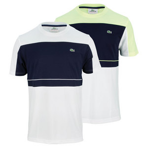 LACOSTE MENS ULTRA DRY COLOR BLOCK TENNIS TEE