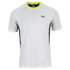 FILA MENS CENTER COURT COLORBLOCKED CREW WH