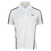 FILA Men`s Center Court Embossed Tennis Polo White
