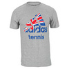 ADIDAS Men`s Logo Aussie Tennis Tee Medium Gray Heather