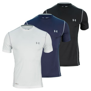 UNDER ARMOUR MENS HEATGEAR SONIC FITTED SHORT SLV TEE
