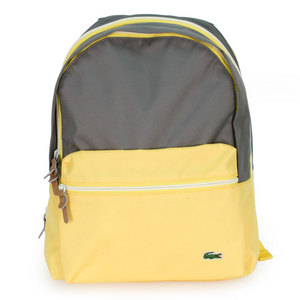 LACOSTE BACKCROC COLORBLOCK BACKPACK YELLOW/GRAY