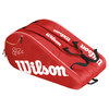 WILSON Federer Team 12 Pack Tennis Bag Red