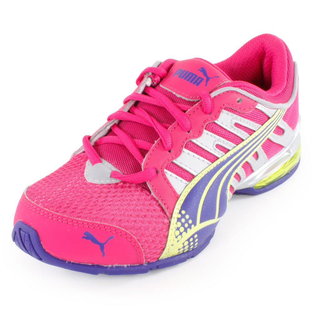 Junior's Voltaic 3 Running Shoe Beetroot Purple And Spectrum Blue