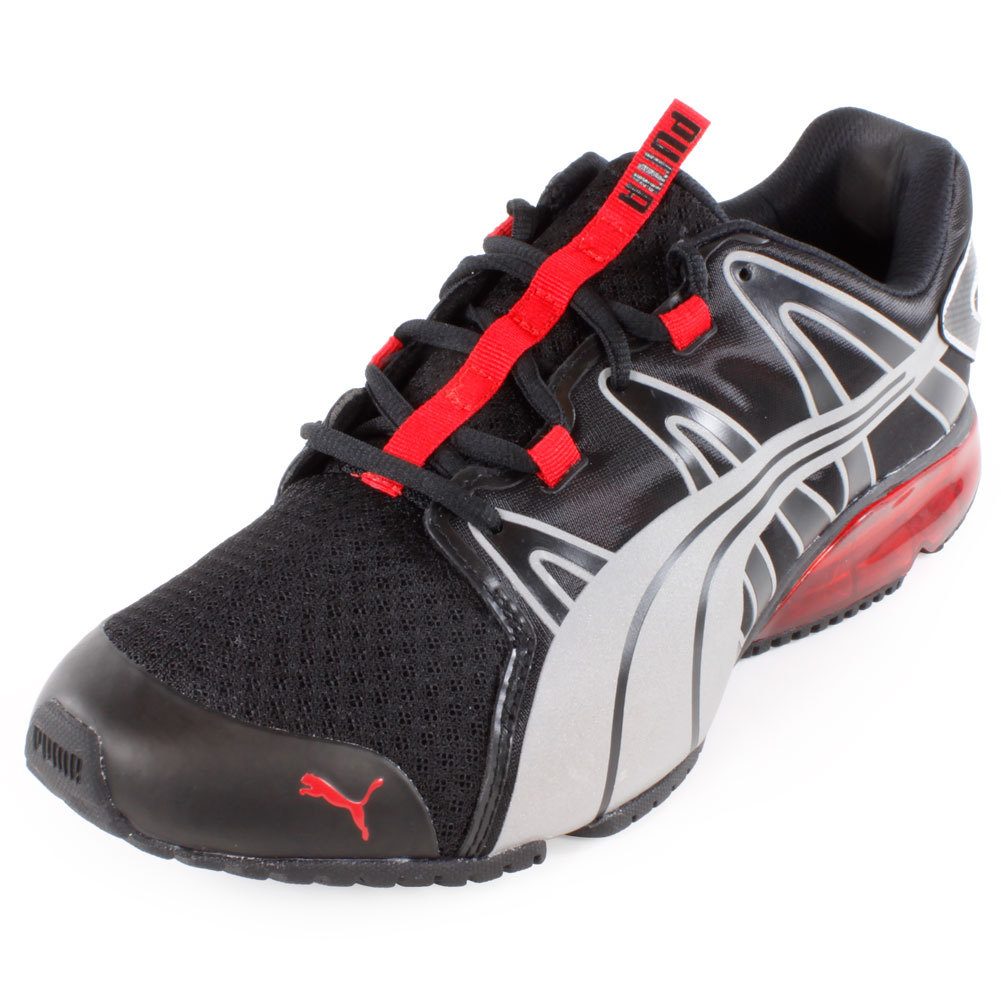 Men's Powertech Voltaic Running Shoe Black And High Risk Red
