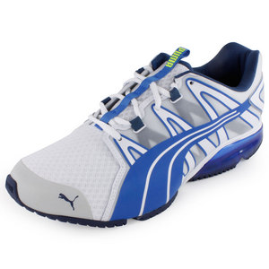 PUMA MENS POWERTECH VOLTAIC SHOES WHITE/BL