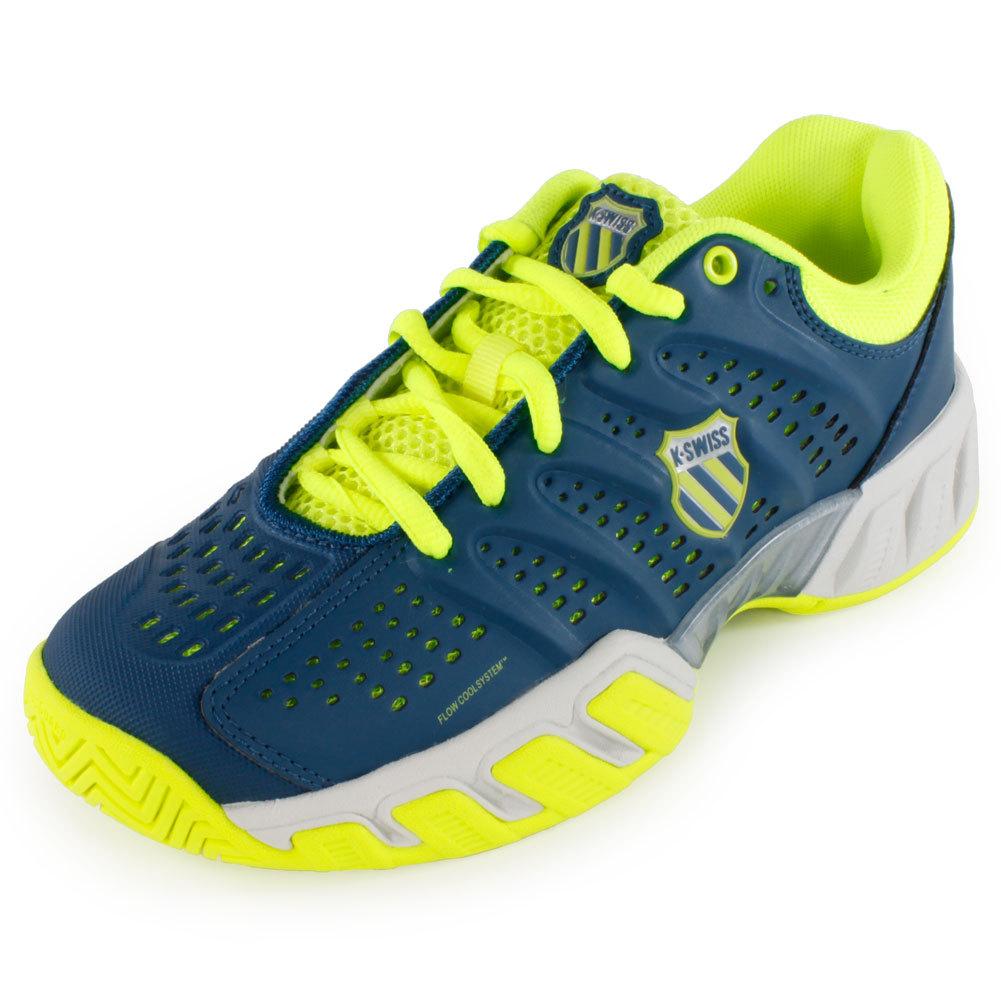 Juniors ` Bigshot Light Tennis Shoes Blue And Green