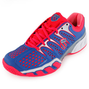 K-SWISS WOMENS BIGSHOT II TENNIS SHOES BLUE/RED