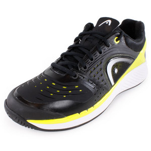 Men`s Sprint Pro Tennis Shoes Black and Lime