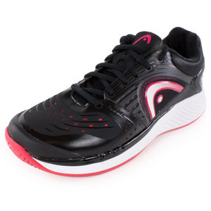 HEAD WOMENS SPRINT PRO TENNIS SHOES BLACK/PK