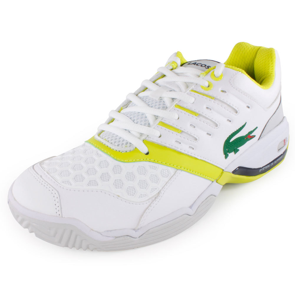 Men's Gravitate Tennis Shoes White And Light Green